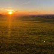 Auerberg Sonnenuntergang